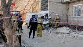 Балкон рухнул в Кокшетау