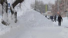 Усть-Каменогорск в снегу