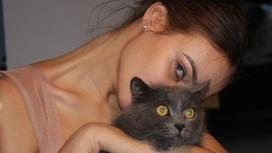Алена Водонаева с котом
