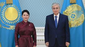 Касым-Жомарт Токаев и Батмунх Батцецег