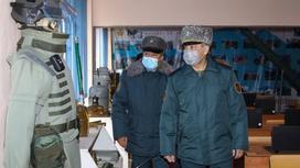 Министр обороны посетил Военный институт Сухопутных войск