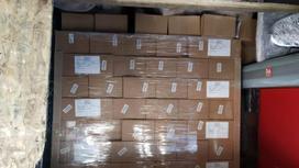 Коробки с медикаментами погружены в грузовик