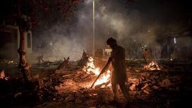 Погребальные костры в Индии