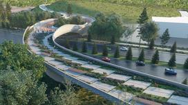 Проекта моста над проспектом Аль-Фараби