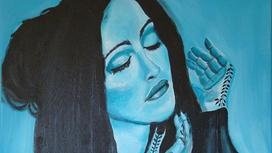 певица Мадонна (рисунок)
