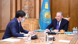 Нурсултан Назарбаев и Бауыржан Байбек