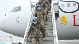 Состоялась очередная ротация казахстанских миротворцев