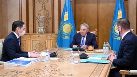 Нурсултан Назарбаев принимает Марата Азильханова