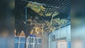 Повреждения, нанесенные пожаром в школе в Нур-Султане