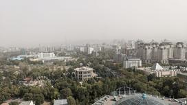 Пыльная буря в Алматы