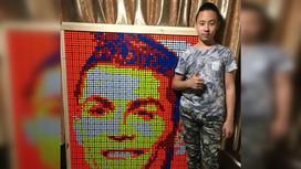 Тимур Омаров и его портрет Криштиану Роналду