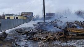 Пожар в Уральске