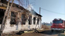 Пожар в монастыре близ Павлодара
