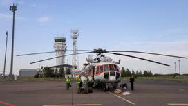 Казахстанский вертолет
