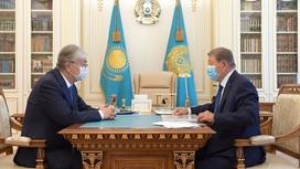 Касым-Жомарт Токаев и Ахметжан Есимов