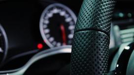 Руль автомобиля и панель