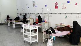 Матери с детьми в больнице в Йемене