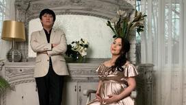Омиркул Айниязов с супругой