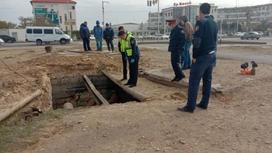 Место, где обнаружили тело в Актау