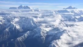 Горы с высоты птичьего полета