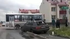 Автобус попал в ДТП в Петропавловске