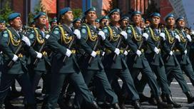 Военные Казахстана выступают на параде Победы в Москве