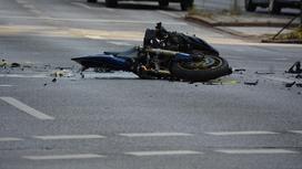 Мотоцикл попал в аварию