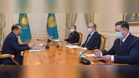 Президент Казахстана Касым-Жомарт Токаев на встрече с генсеком Совета сотрудничества тюркоязычных государств