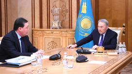 Нурсултан Назарбаев и Аскар Мамин