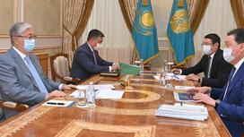 Касым-Жомарт Токаев, Аскар Мамин и Алмасадам Саткалиев