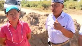 "Кадр из видео телеканала ""Астана"", мужчина и женщина"