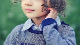 лицо маленькой девочки