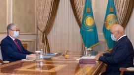 Касым-Жомарт Токаев и Умирзак Шукеев
