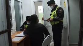 Задержание водителя в Талдыкоргане