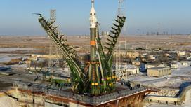 Ракетная установка на Байконуре
