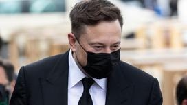 Илон Маск в медицинской маске