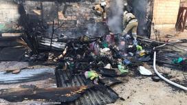 Место пожара в Актау