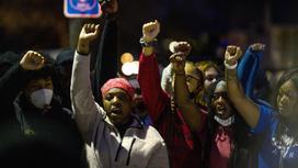 Протестующие после убийства Донта Райта