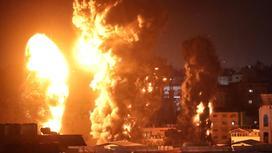 Взрыв в результате палестино-израильского конфликта