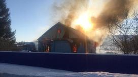 Пожар в селе в ВКО