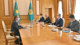 Встреча Касым-Жомарта Токаева с Вольфгангом Кроппом
