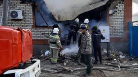 Пожар в Кызылординской области