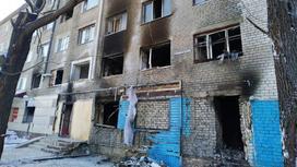Место взрыва в Петропавловске