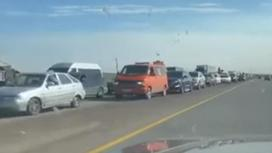 Автомобильная пробка близ Нур-Султана