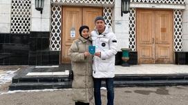 Шарип Серик и Молдир Есенбек. Фото