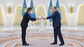 Касым-Жомарт Токаев принимает верительную грамоту от посла Италии Марко Альберти