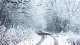 Заметенная снегом дорога
