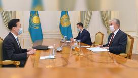 Чжан Сяо на встрече с Касым-Жомартом Токаевым