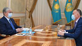 Касым-Жомарт Токаев и  Берик Имашев