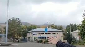 Флагшток в Текели